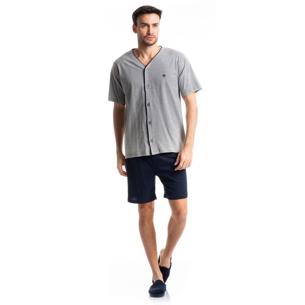 Pijama Masculino Curto Aberto Tombini Homem - 3002A