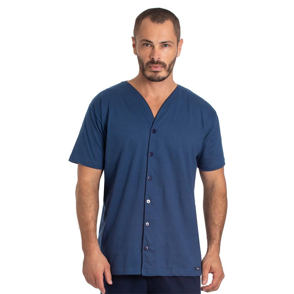 Pijama Masculino Curto Aberto Toque Slepwear Azul 07.02.010