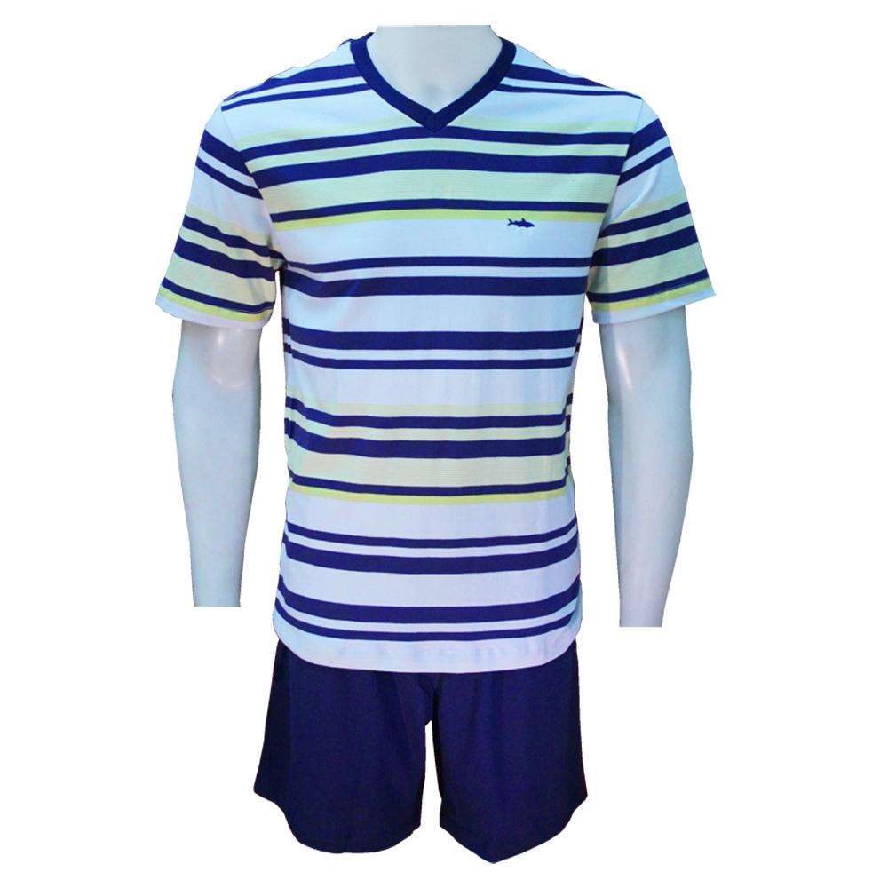 Pijama Masculino Curto em Algodão Fitswell - 11291