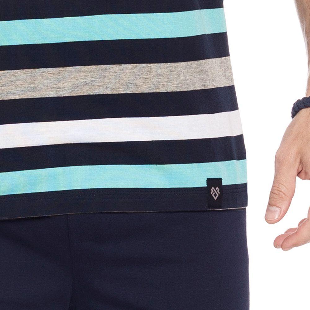 Pijama Masculino Curto em Algodão Tombini Homem - J170