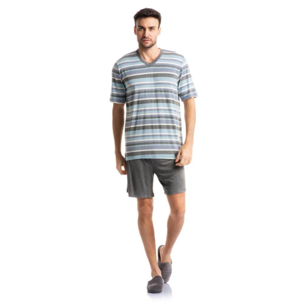 Pijama Masculino Curto em Viscolycra Tombini Homem - 2232b