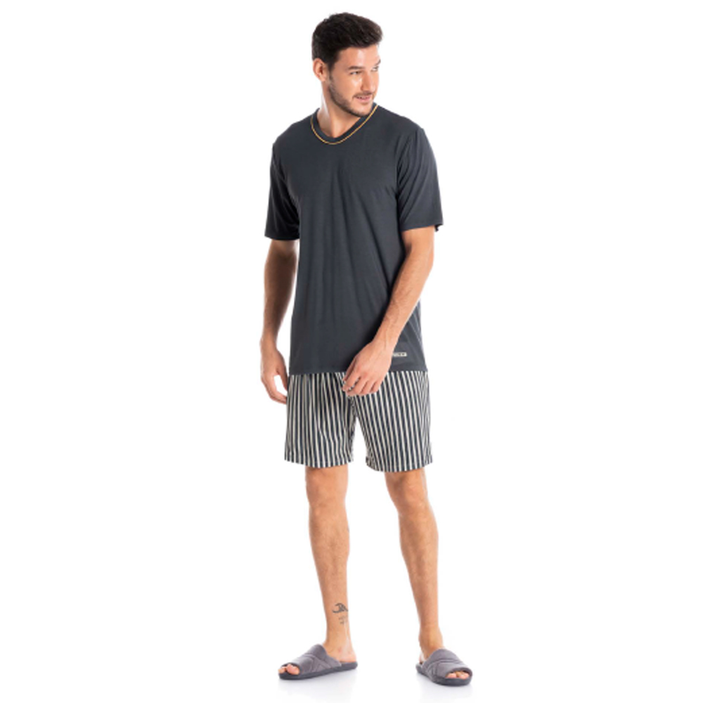 Pijama Masculino Curto em Viscolycra Tombini Homem - 9950B