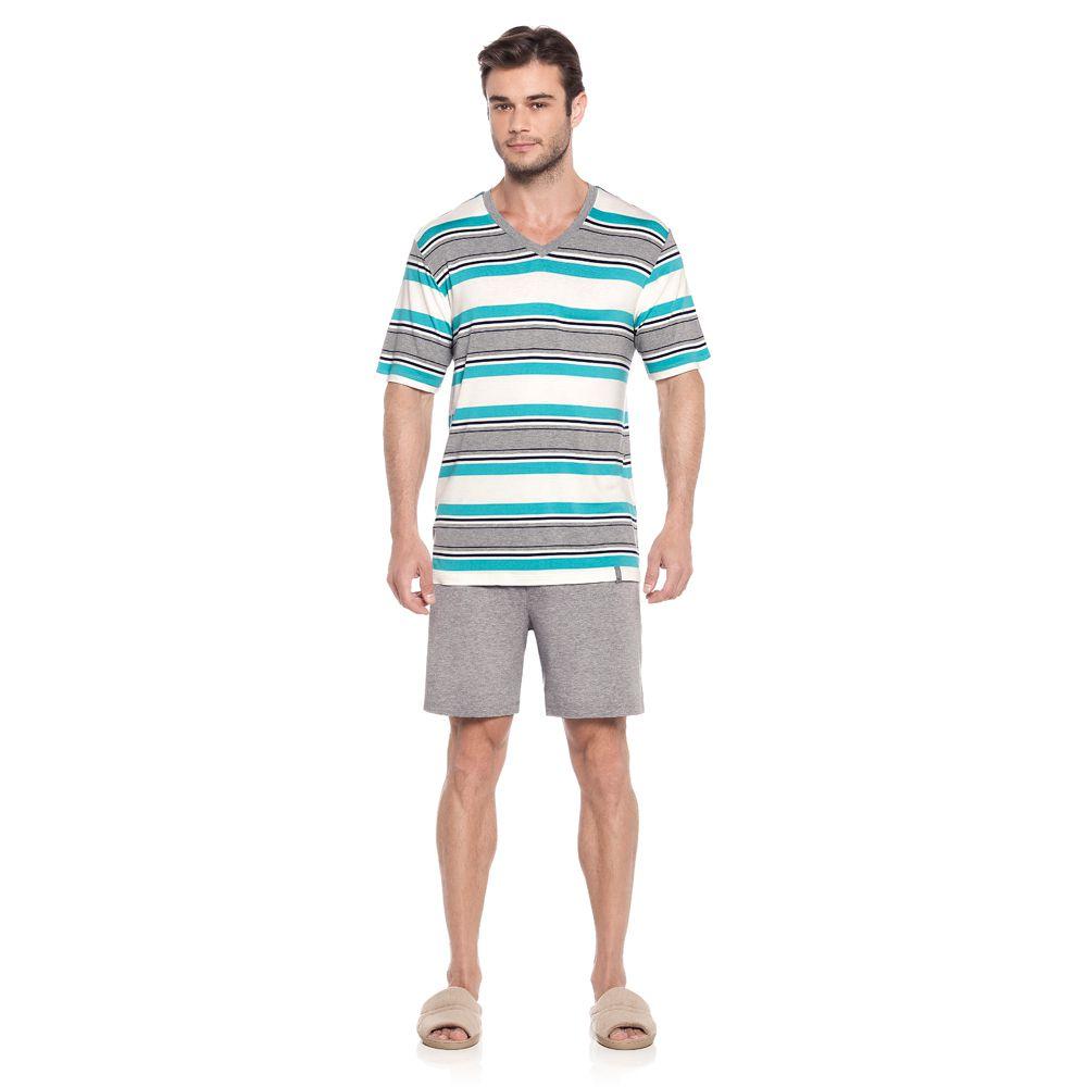 Pijama Masculino Curto em Viscolycra Tombini Homem - J121