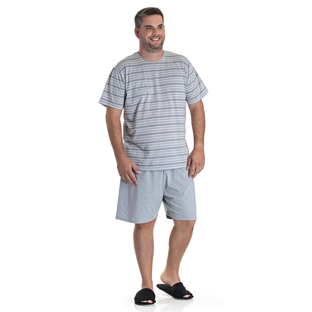 Pijama Masculino Curto Listrado Toque Slepwear 09.02.007