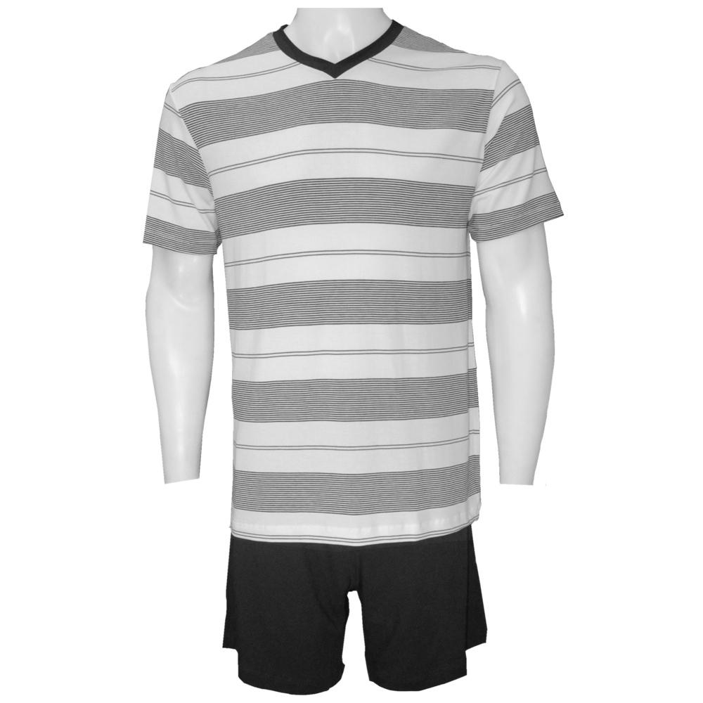 Pijama Masculino Curto Modal Listrado Fitswell - 11251