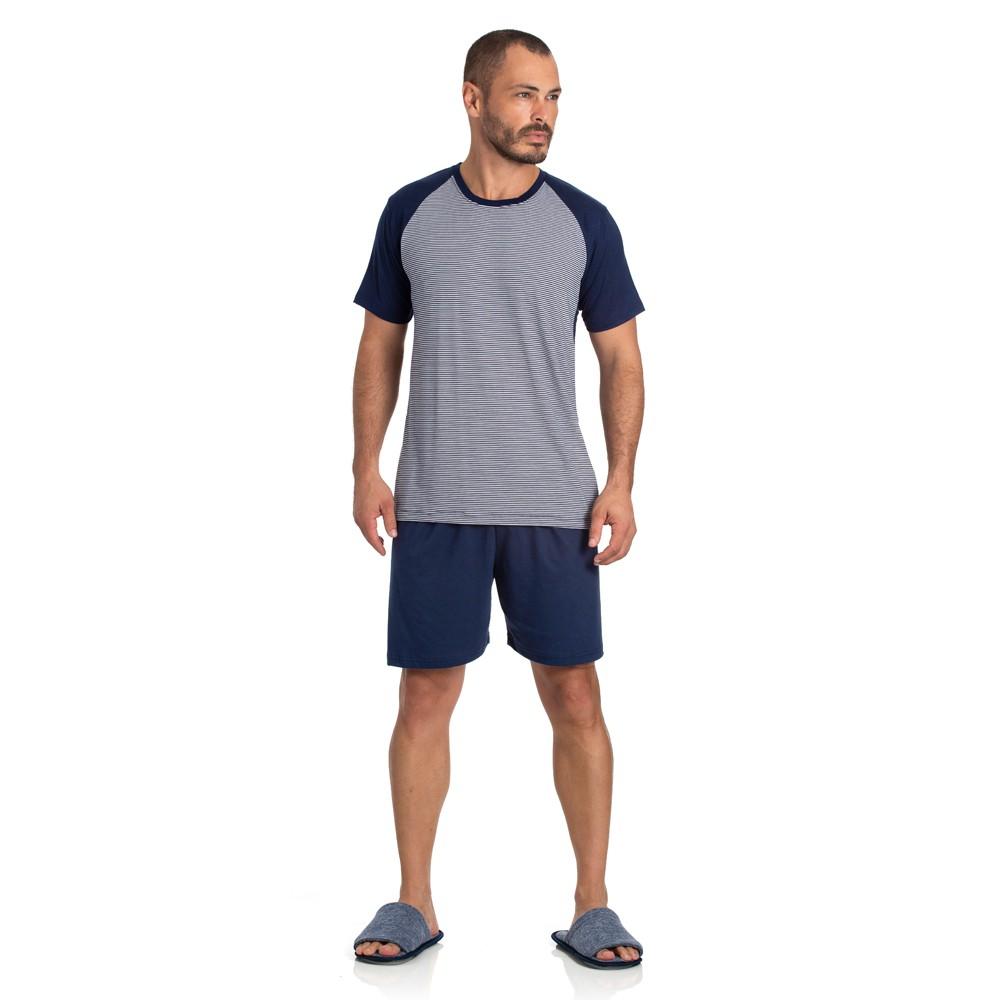 Pijama Masculino Curto Viscolycra Listrado 07.02.004