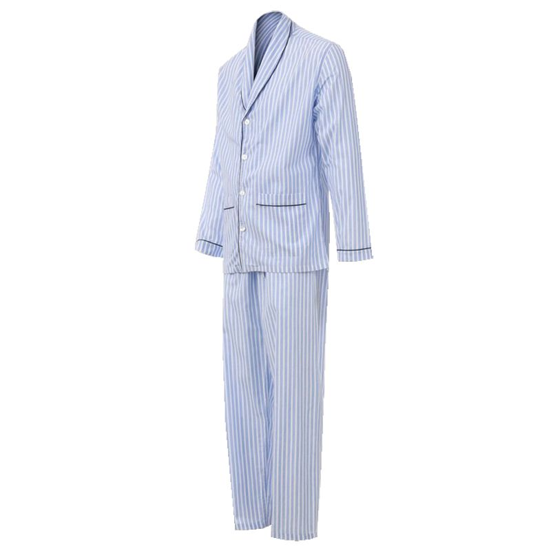Pijama Masculino Longo Aberto Listrado Stripes 100% Algodão PL272