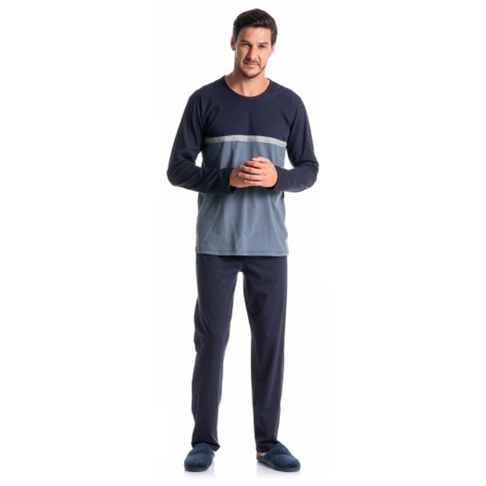 Pijama Masculino Longo com Recortes 9230b