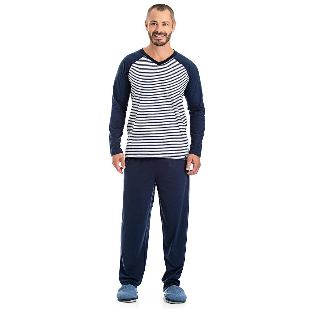 Pijama Masculino Longo Listrado - 08.02.007
