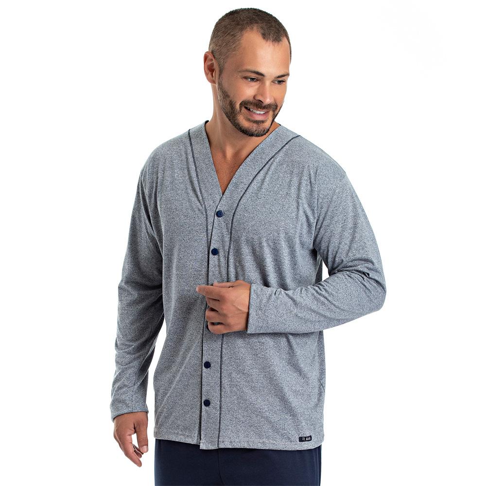 Pijama Masculino Longo Aberto - 08.02.013 Azul