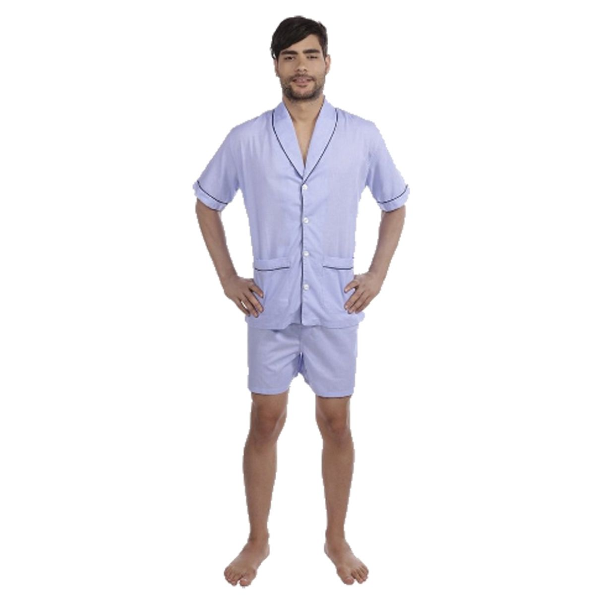 Pijama Masculino Curto Aberto Puro Algodão Presidente - PC83