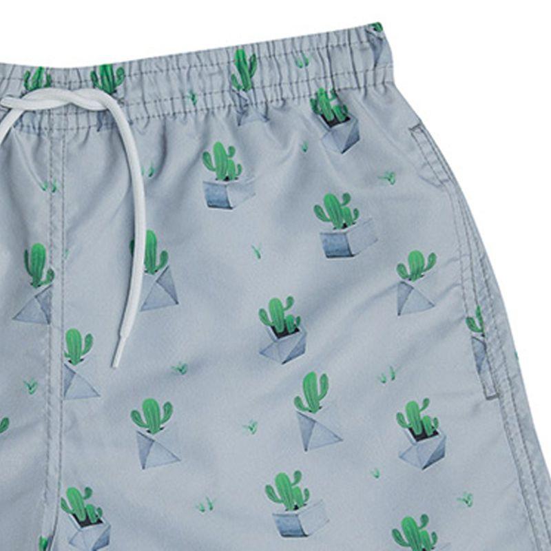 Shorts Beachwear Minimalista Cactos Mash - 613.17