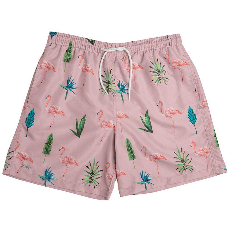 Shorts Beachwear Minimalista Flamingo Mash - 613.17