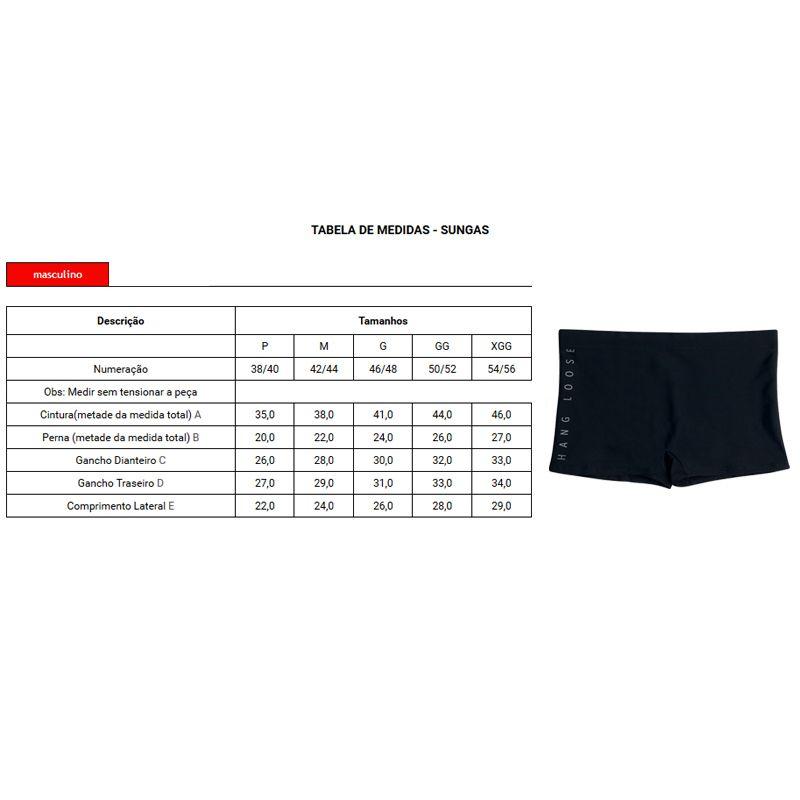 Sunga Boxer Hang Loose C/ Silk Vertical - HL3.34