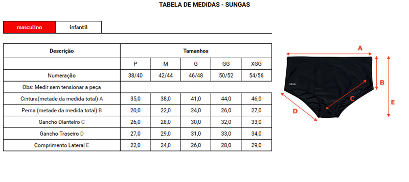 Sungão Mash com Bolso Lateral - 302.88