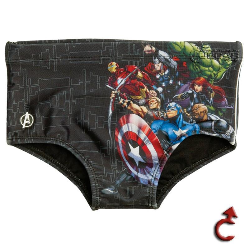 Sungão Natação Infantil Avengers C/ Vivo - AV3.03
