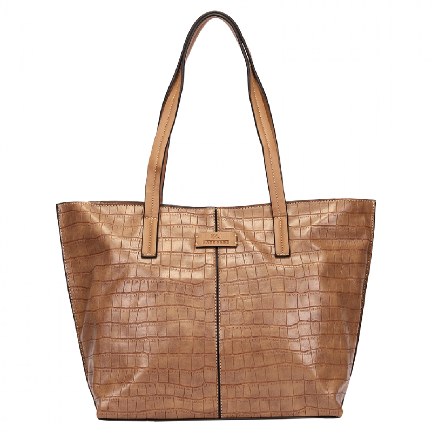 BOLSA SHOPPING BAG CROCO COM RECORTE FENDI