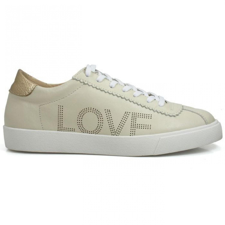 TÊNIS LOVE OFF WHITE/DOURADO