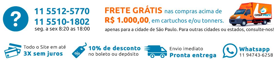 frete grátis nas compras acima de r$ 1.000,00, em cartuchos e toners.