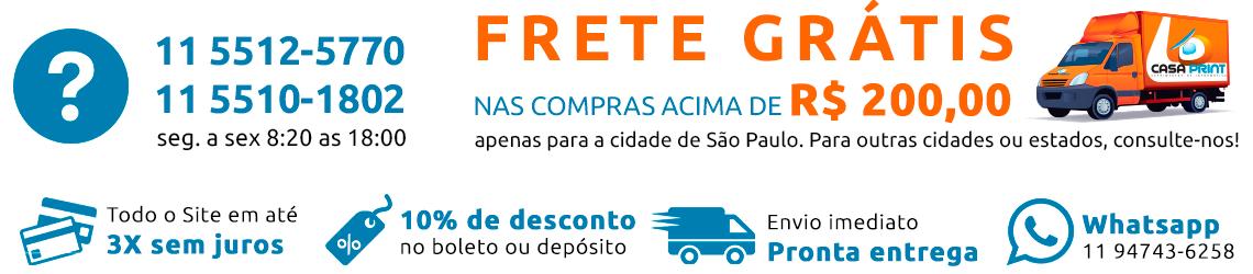 Frete Grátis nas compras acima de r$ 200,00. apenas para São Paulo/ Capital