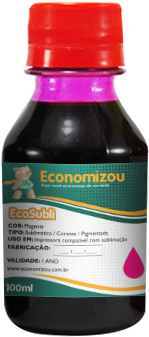 100ml Tinta Corante Epson Vermelha (Magenta)  - ECONOMIZOU