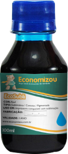 100ml Tinta Corante HP, LEX e CANON Azul (Cyan)  - ECONOMIZOU