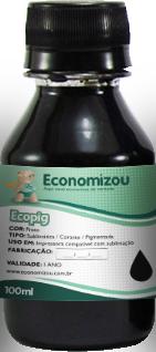 100ml Tinta Corante HP, LEX e CANON Preta (Black)  - ECONOMIZOU