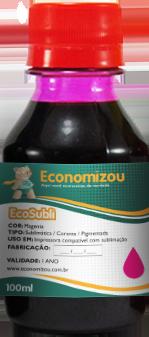 100ml Tinta Corante HP, LEX e CANON Vermelha (Magenta)  - ECONOMIZOU