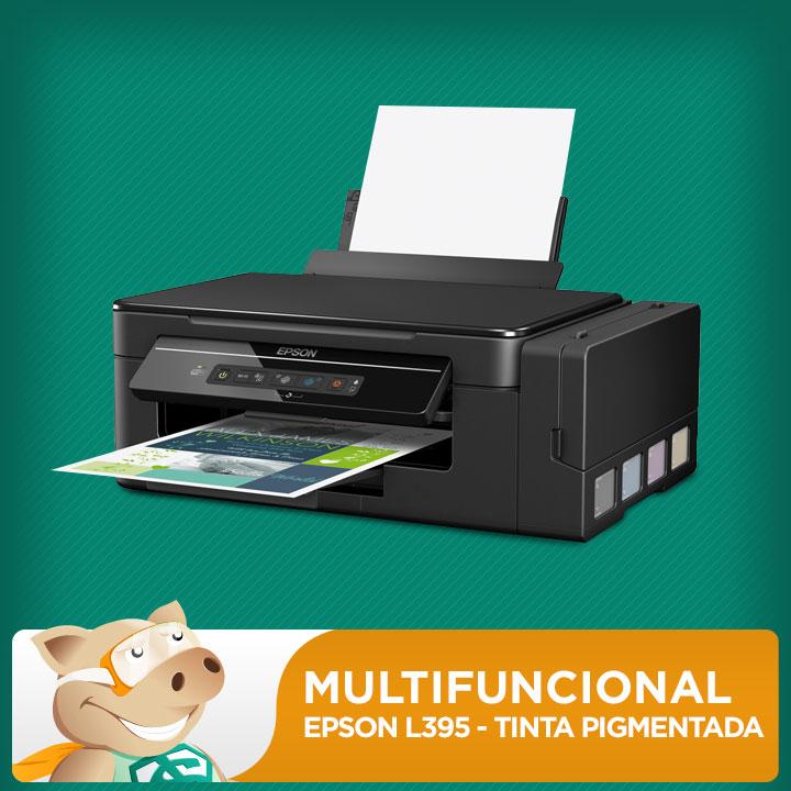 Epson Multifuncional L395 Bulk de Fábrica Tinta Pigmentada  - ECONOMIZOU