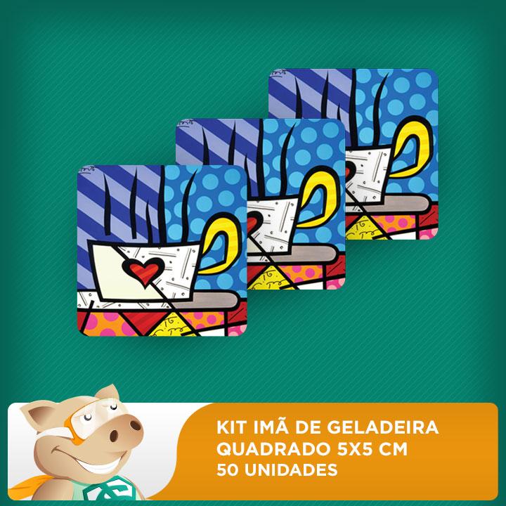 Kit Imãs de Geladeira - Quadrado - 5x5cm - 50 unidades  - ECONOMIZOU