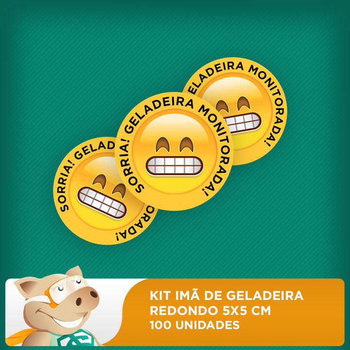 Imãs de Geladeira - 5x5cm - Redondo - 100 unidades - 10 pacotes com 10 unidades   - ECONOMIZOU
