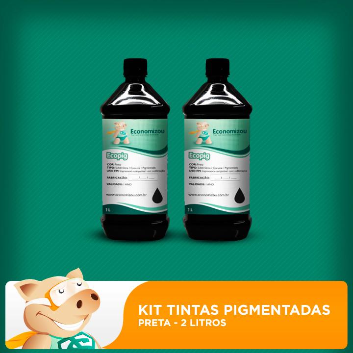 Kit Tintas Pigmentadas Epson 2L de Pretas  - ECONOMIZOU