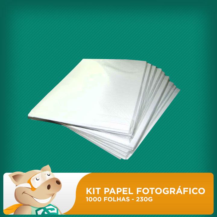 Kit papel fotográfico 1000 folhas 230gr A4  (Resistente à água)  - ECONOMIZOU