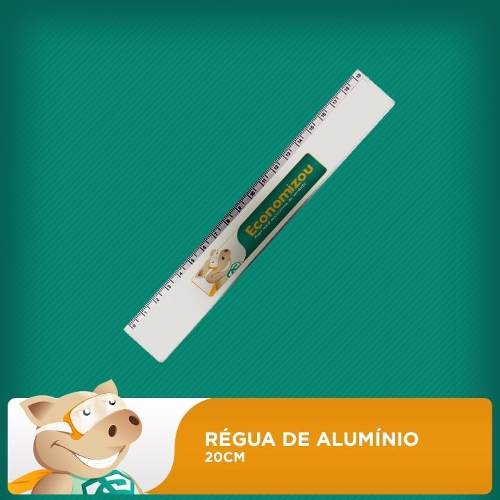 Régua de Alumínio para Sublimação - 10 unidades  - ECONOMIZOU