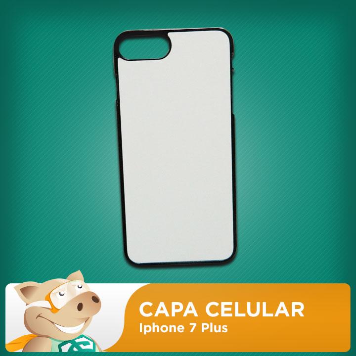 Capa 2D para Sublimação Iphone 7 plus  - ECONOMIZOU