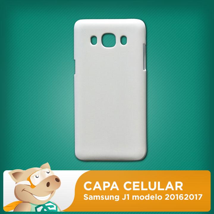 Capa 2D para Sublimação Sansumg J1 modelo 2016-2017  - ECONOMIZOU