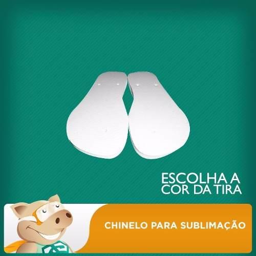 Chinelo P/ Sublimação Infantil - 10 Pares - Envio Imediato  - ECONOMIZOU