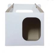 Caixa de Caneca Com Janela Sublimável - pacote com 10 unidades