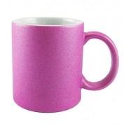 Caneca Glitter Rosa Fúscia para Sublimação 300ml (Unidade)