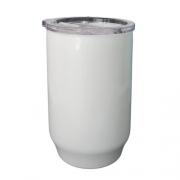Copo De Polimero 550ml Branco Com Tampa Acrilica - UNIDADE