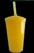 Copo Twister Amarelo Leitoso - 500ml