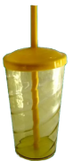 Copo Twister Amarelo Transparente - 500ml