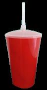 Copo Twister Vermelho Leitoso