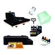 Kit sublimação A4  + 38x38 + prensa de canecas (prensa 38x38 + prensa de canecas + impressora A4+ perfil de cores GRATIS!)