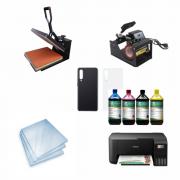 Kit sublimação Iniciante A4 (prensa 38x38 + prensa de canecas + Multifuncional A4+L3250 perfil de cores GRATIS!)