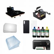 Kit sublimação Iniciante A4 (prensa 40x60 + prensa de canecas + multifuncional A4 L3250+ perfil de cores GRATIS!)