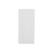 Placa de Sinalização Com Adesivo - Retangular 9 cm x 19 cm - Pacote Com 10 Unidades