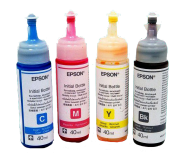 Refil Tintas Corantes Original KIT com 4 cores 40ml cada frasco - L120/L200/L210/L220/L355/L365/L375/L380/L395