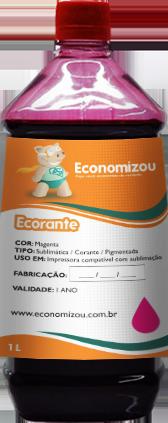 1 Litro Tinta Corante HP, LEX, e CANON Vermelha (Magenta)  - ECONOMIZOU