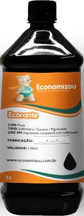 1 Litro Tinta Corante Preta para Epson  - ECONOMIZOU